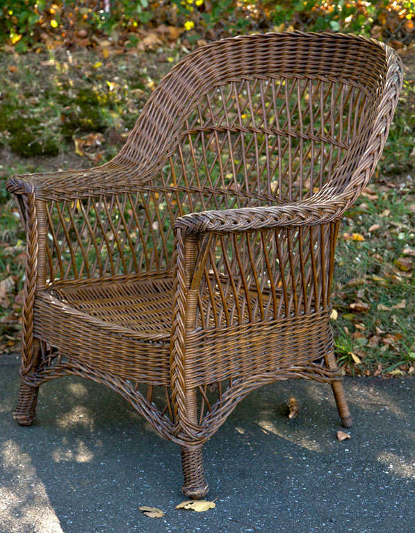 American Antique Wicker Chair For Sale - Wicker Chair At 1stdibs - Antique Rattan Chair Antique Furniture