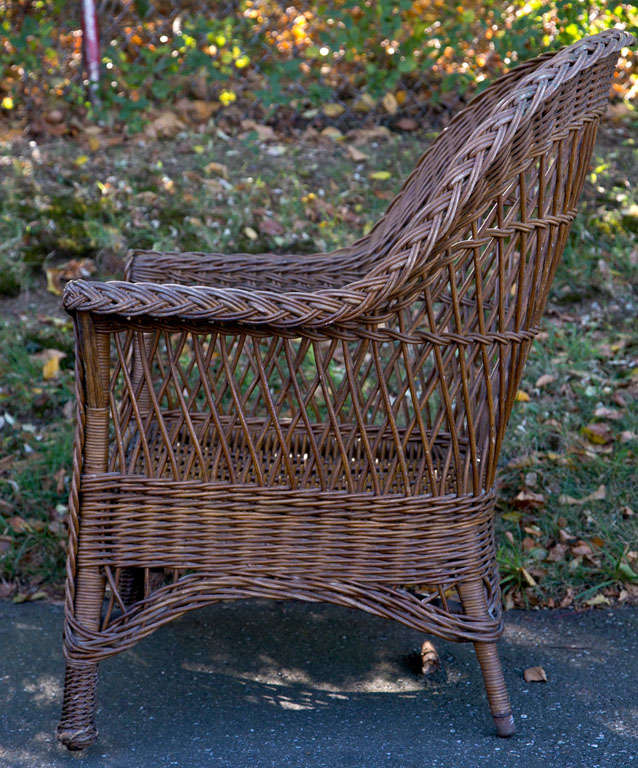 Antique Wicker Chair at 1stdibs
