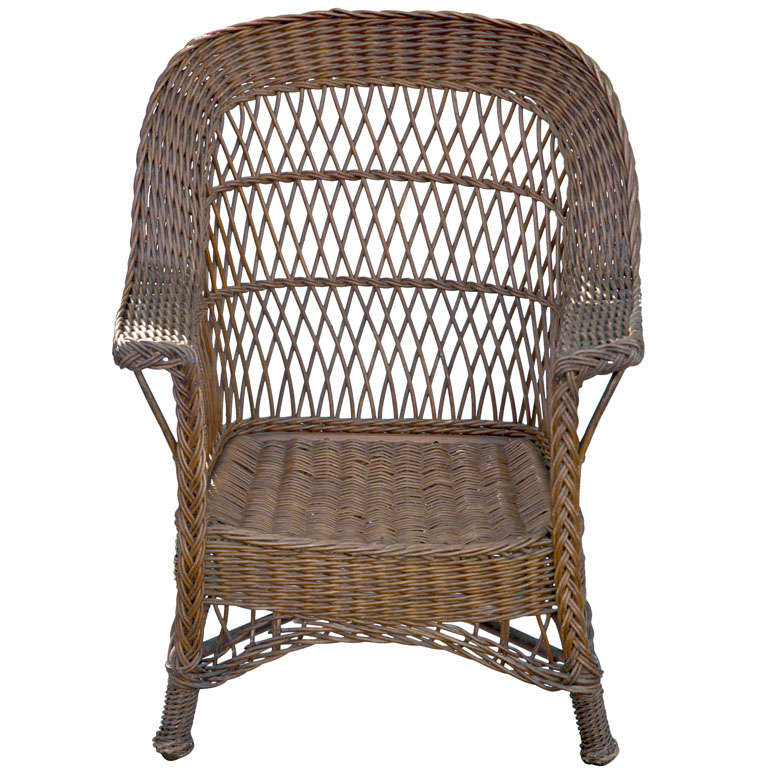 - Antique Wicker Chair At 1stdibs
