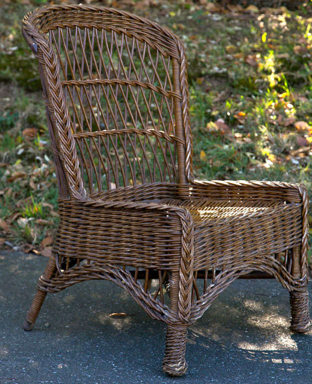 Used Cane Sofa For Sale In Bangalore: Antique Wicker Side Chair For Sale At 1stdibs