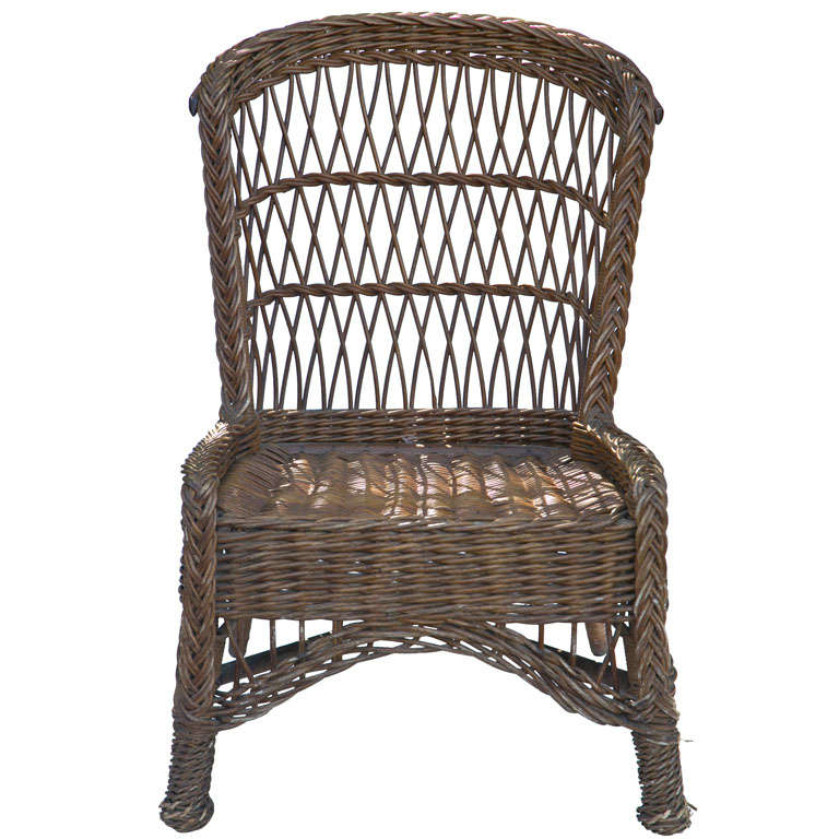 Antique Wicker Side Chair at 1stdibs