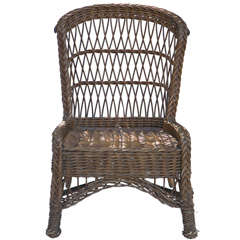 Antique Wicker Side Chair