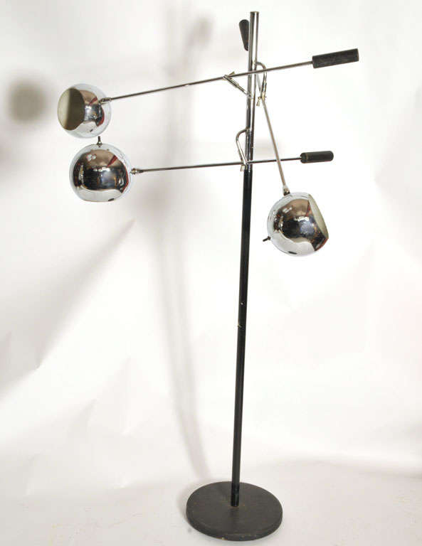 3960s chrome floor lamp at 1stdibs With 60s chrome floor lamp