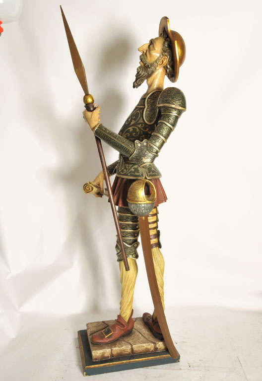 Lifesize Set of Don Quichotte and Sancho Pancho, Spain, 1960s For ...