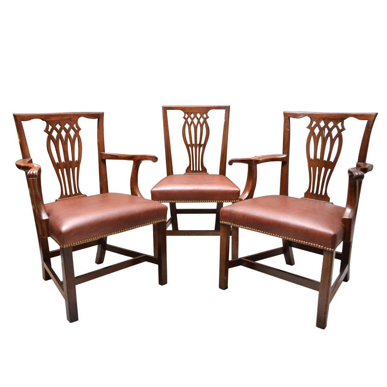 Late 18th-Early 19th Century English Set of 12 Mahogany Dining Chairs