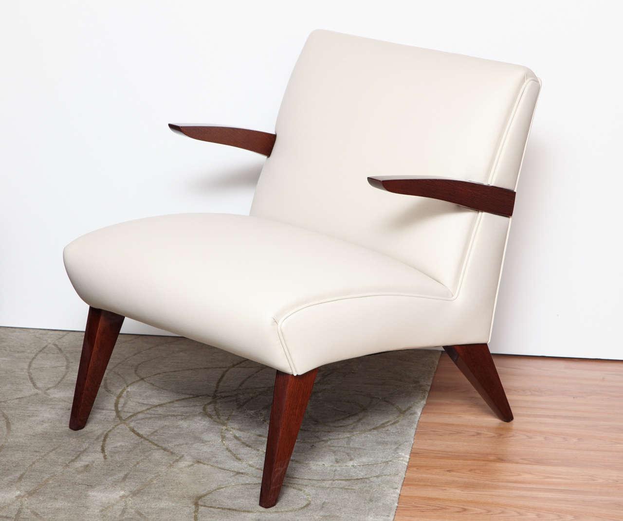 Pair of Art Deco Streamline Lounge Chairs 2