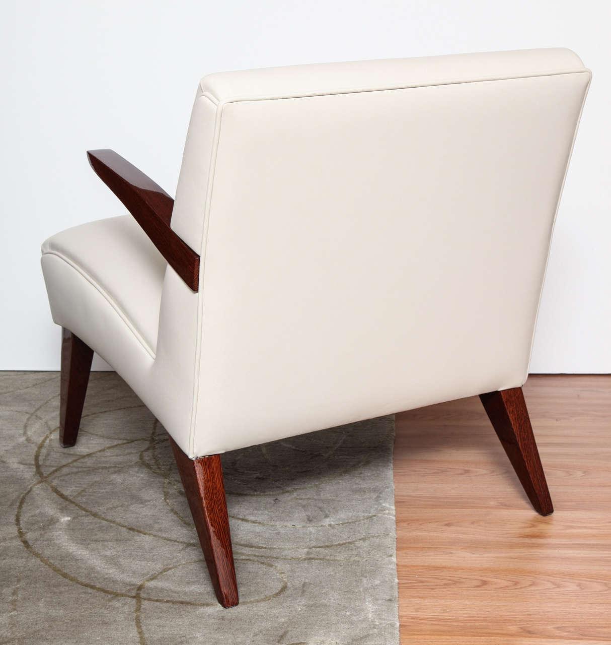 Pair of Art Deco Streamline Lounge Chairs 6