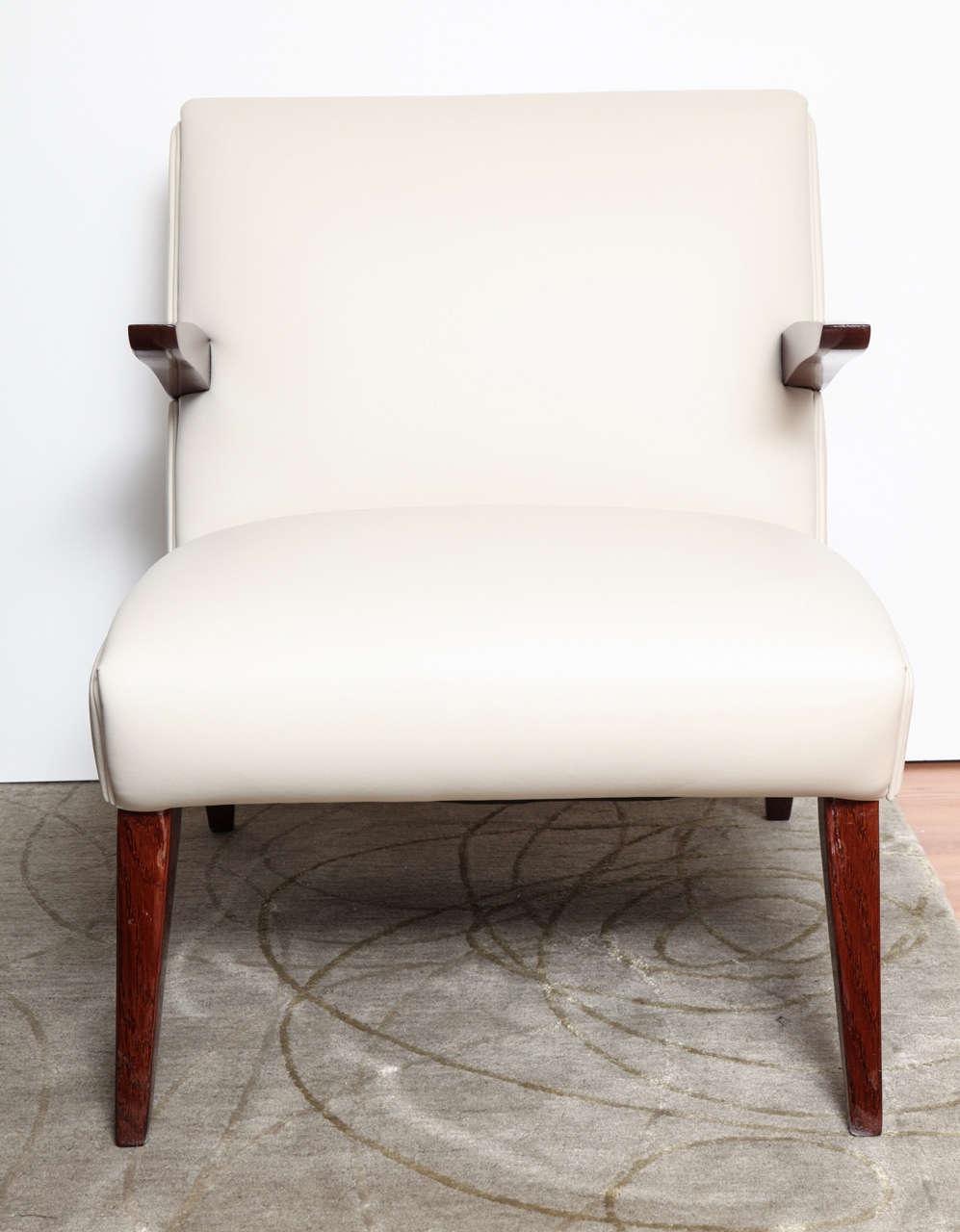 Pair of Art Deco Streamline Lounge Chairs 7