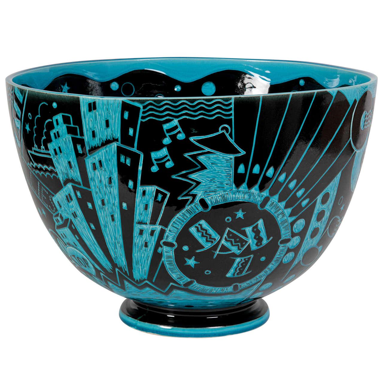 Viktor Schreckengost Cowan Pottery Jazz Bowl An