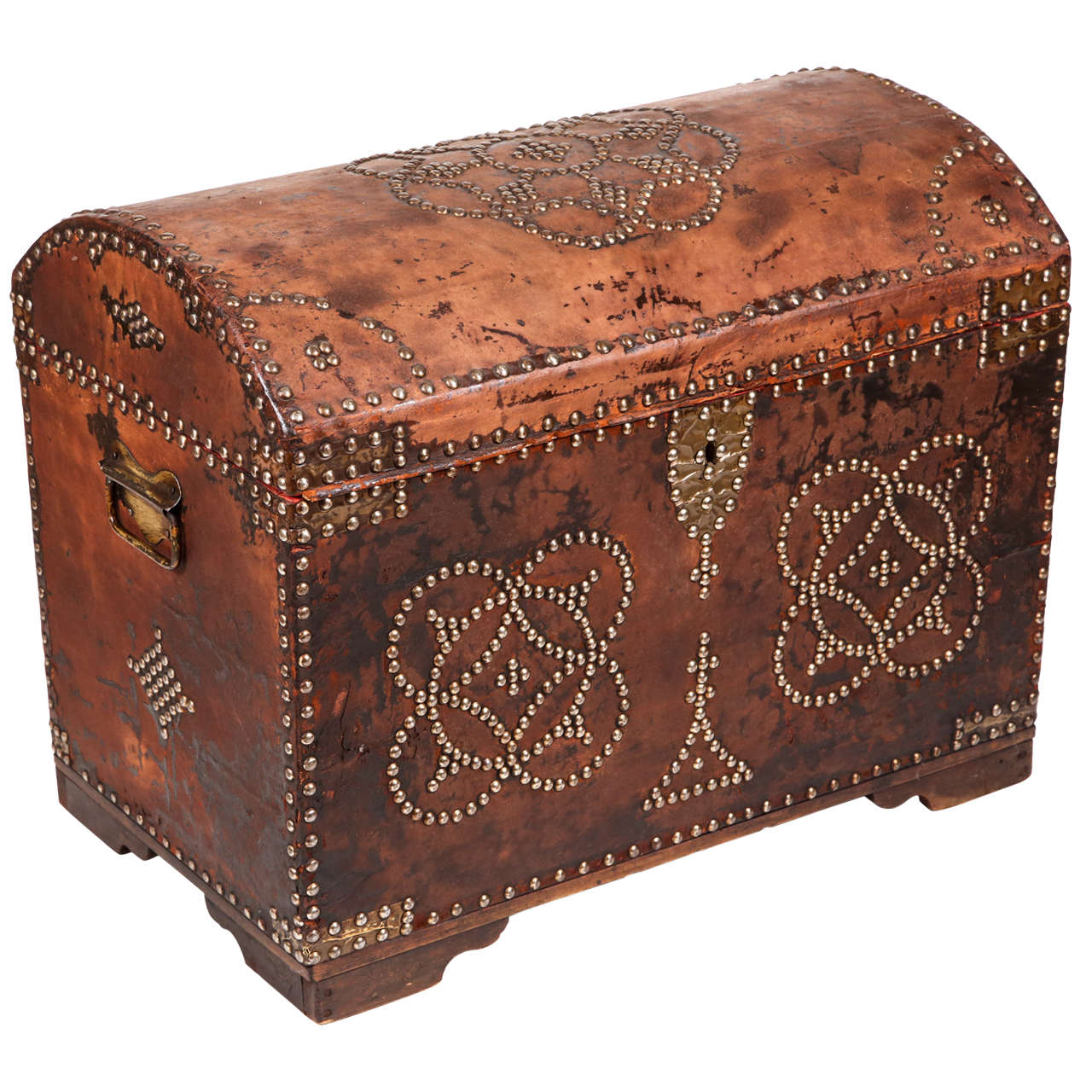 1920s Small Leather Trunk