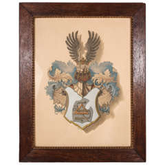 Antique English Heraldic Print