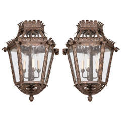 Antique Bronze Hanging Lantern