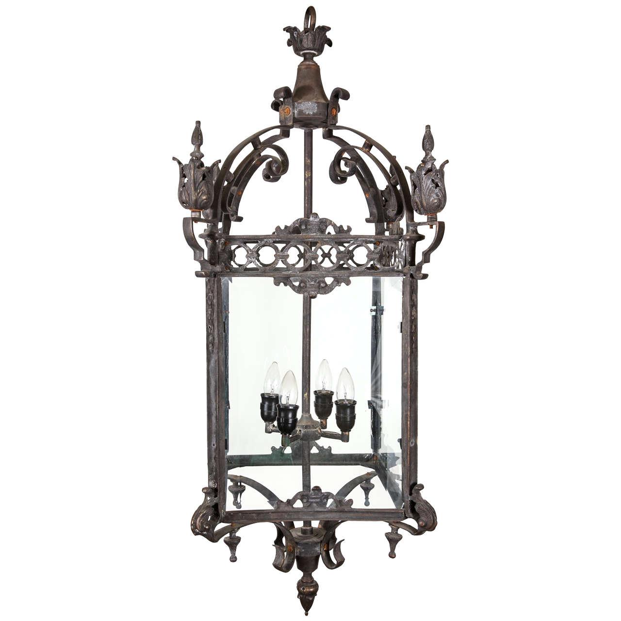italian iron hanging lantern for sale at 1stdibs