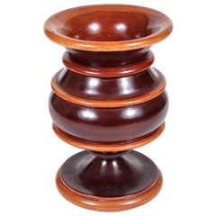 Turned Wooden Vase