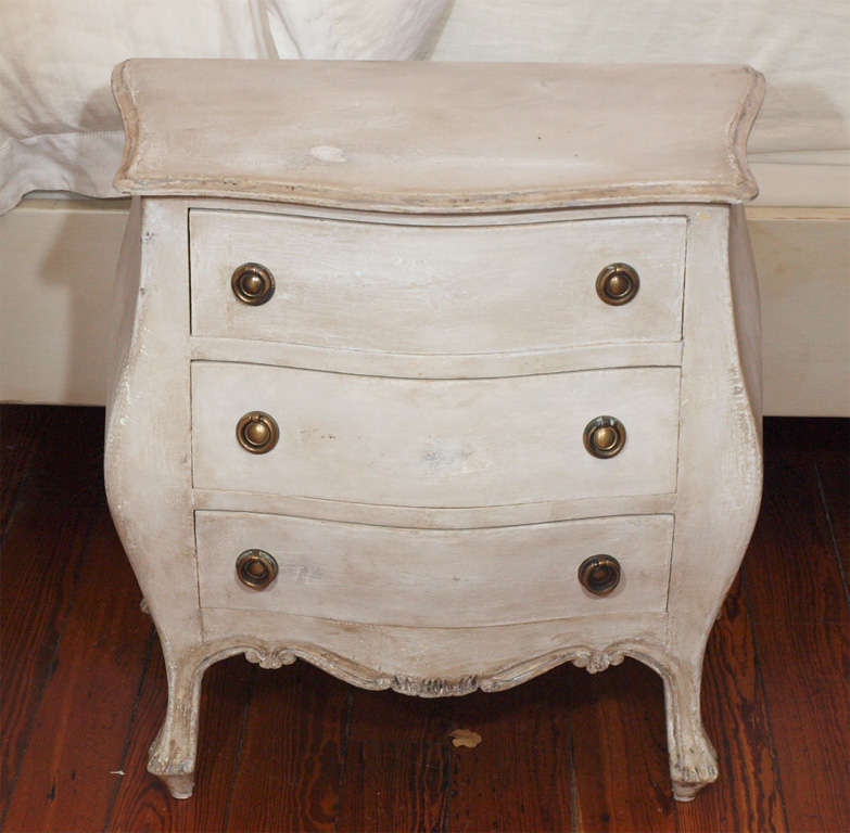 Pair of Swedish Style Painted Nighstands or Side Tables image 2