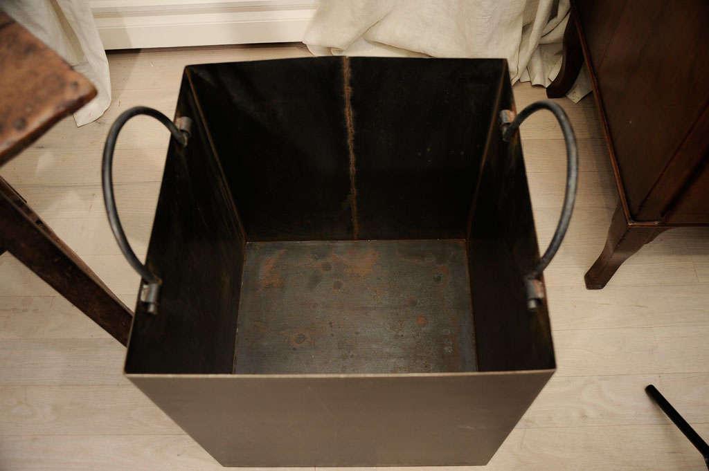 Decorative Kindling Box : Steel firewood box at stdibs