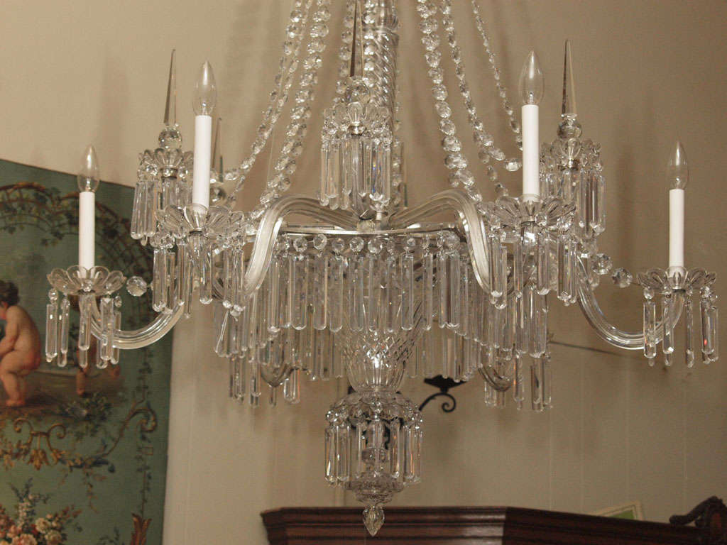Antique crystal chandelier originally from the gas light era at 1stdibs english antique crystal chandelier originally from the gas light era for sale arubaitofo Gallery