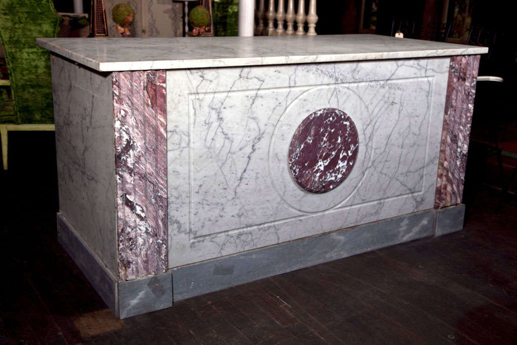 French Boulangerie Marble Counter In Excellent Condition For Sale In Stamford, CT