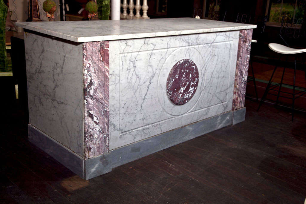 French Boulangerie Marble Counter For Sale 4