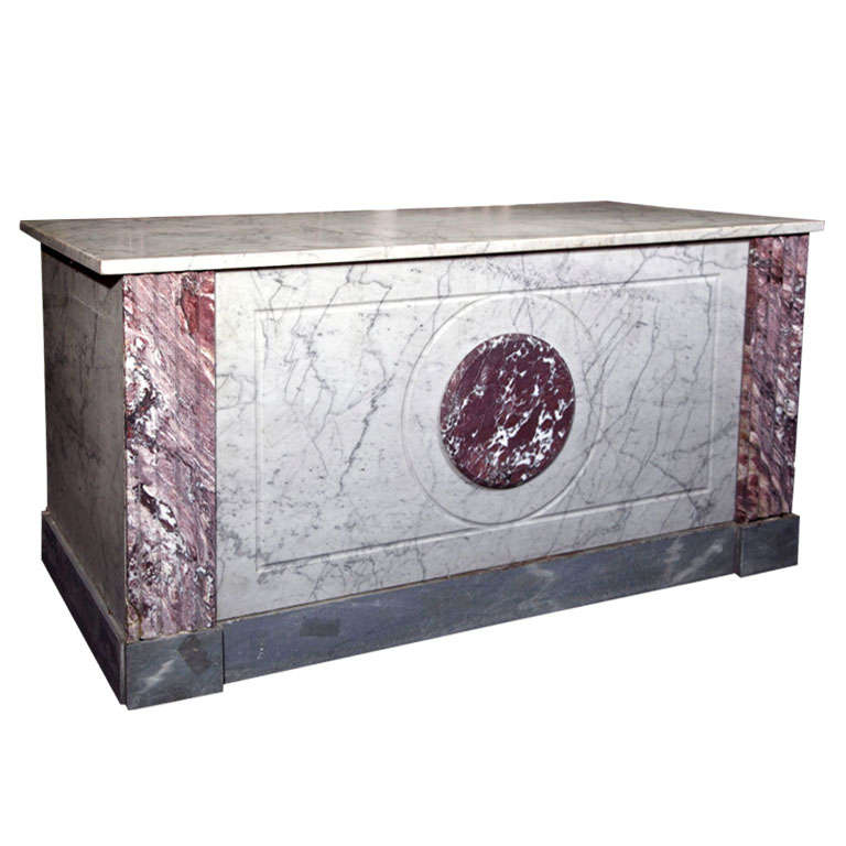French Boulangerie Marble Counter For Sale
