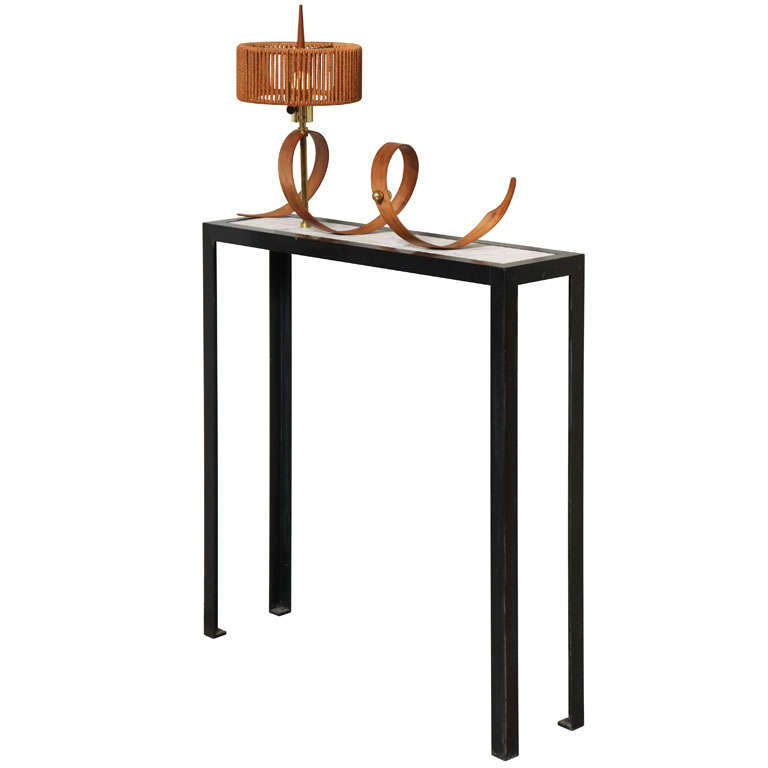 console table with attached lamp at 1stdibs. Black Bedroom Furniture Sets. Home Design Ideas