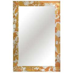 Large Camouflage Metal Leaf Mirror