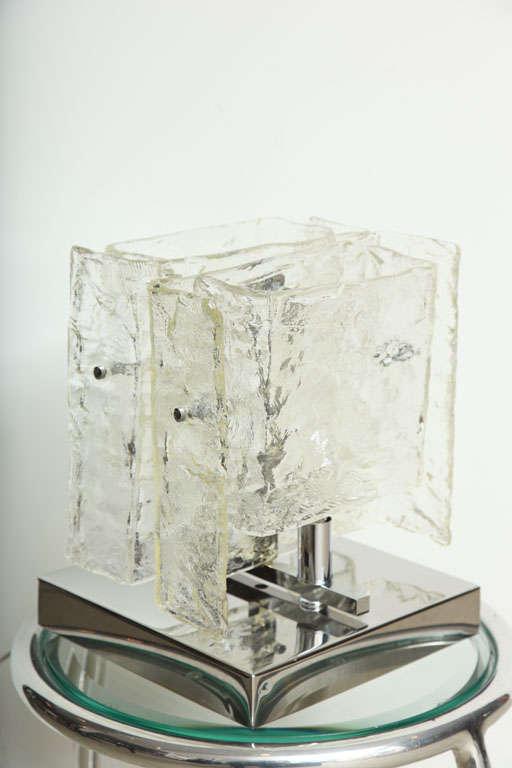 Metal Carlo Nason Mazzega Table Lamp, 1960s For Sale