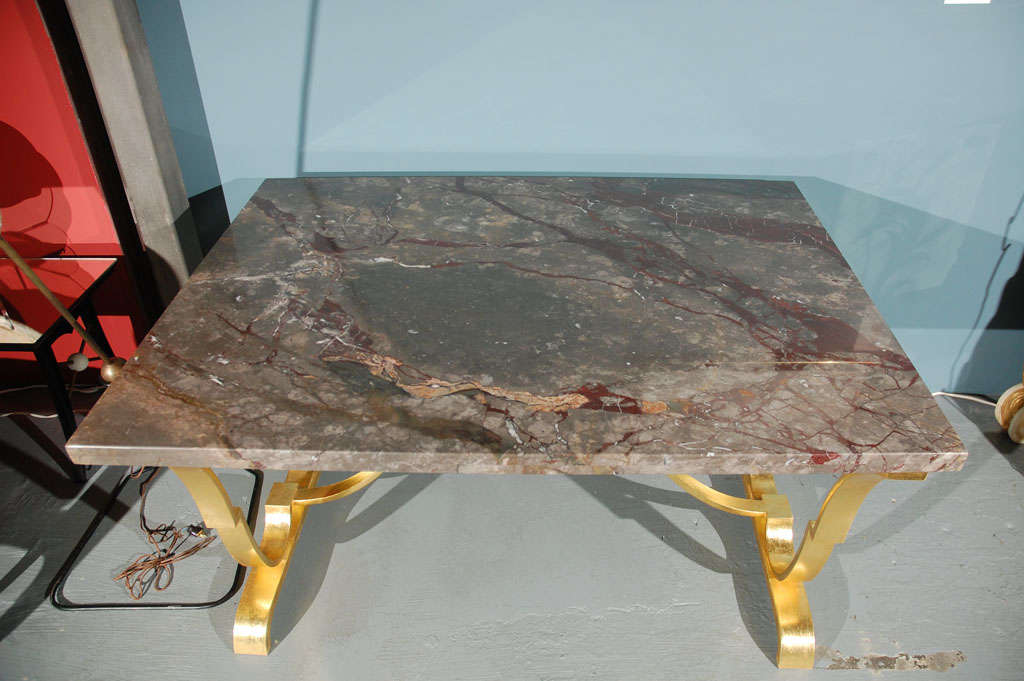 Raymond Subes Console Centre Table In Good Condition For Sale In Cathedral City, CA