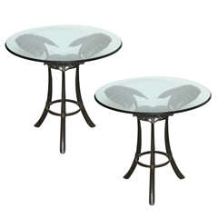 Superb Pair of Bronze End Tables.
