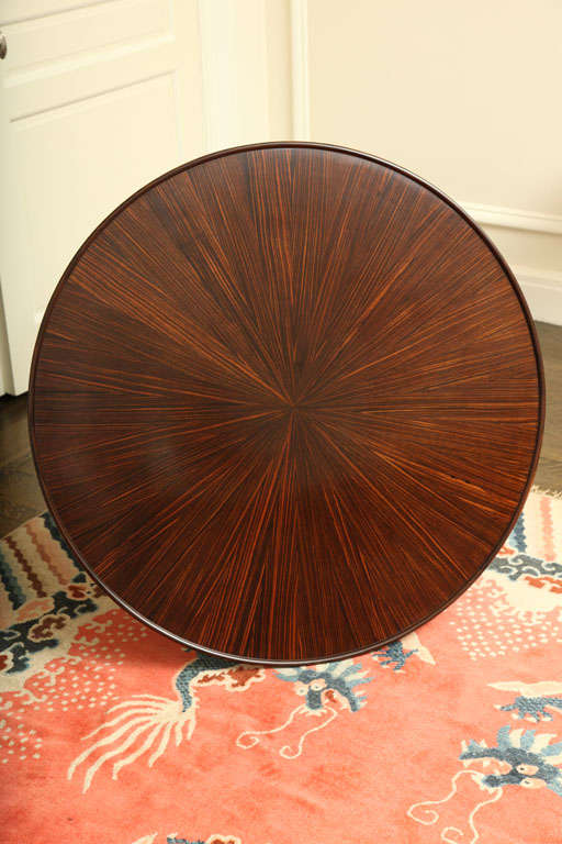 Emile-Jacques Ruhlmann French Art Deco Macassar Ebony 'Bas Ducharne' Table In Excellent Condition For Sale In New York, NY