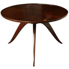 Emile-Jacques Ruhlmann French Art Deco Macassar Ebony 'Bas Ducharne' Table