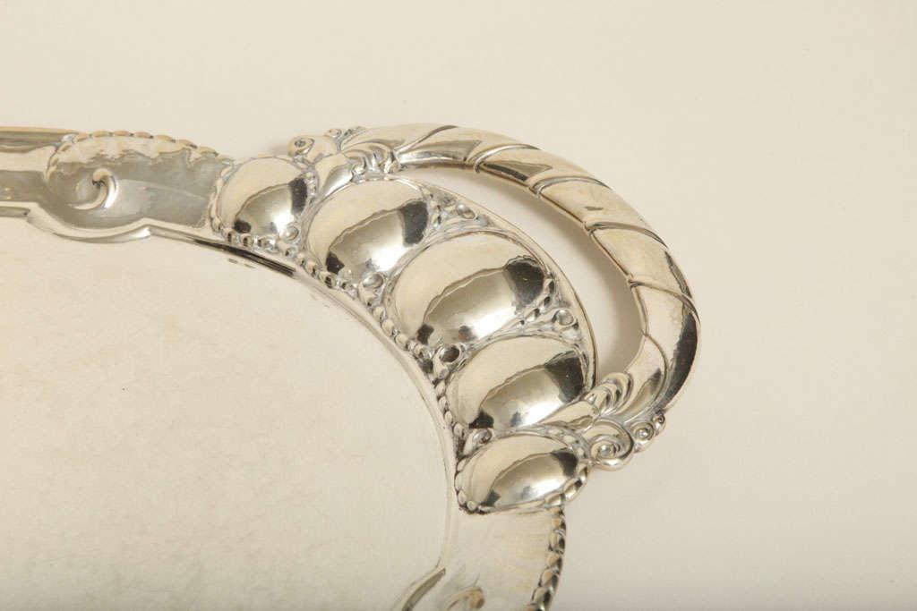 Georg Jensen Danish Art Deco Large Sterling Silver Tray 3