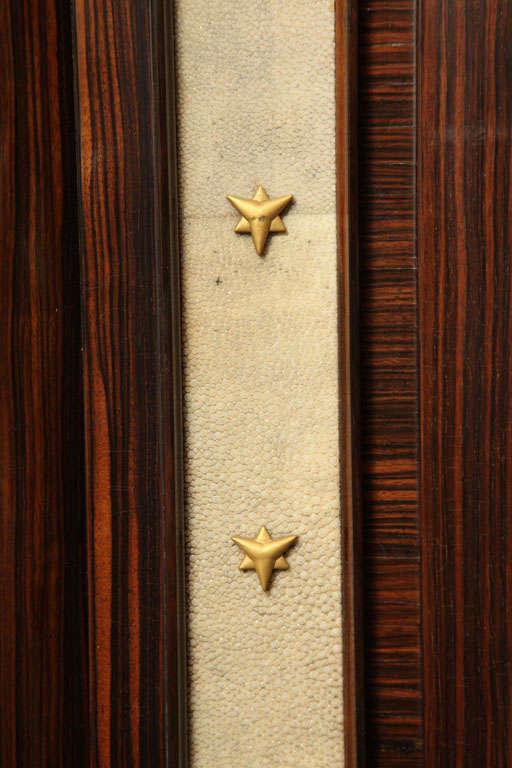 André Frechet French Art Deco Macassar Ebony, Shagreen & Gilt Bronze Cabinet For Sale 2