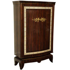 André Frechet French Art Deco Macassar Ebony, Shagreen & Gilt Bronze Cabinet