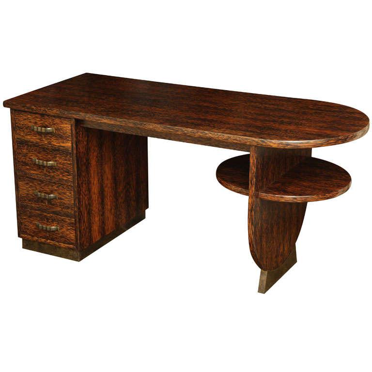 Eugene Printz double-sided desk, 1930s