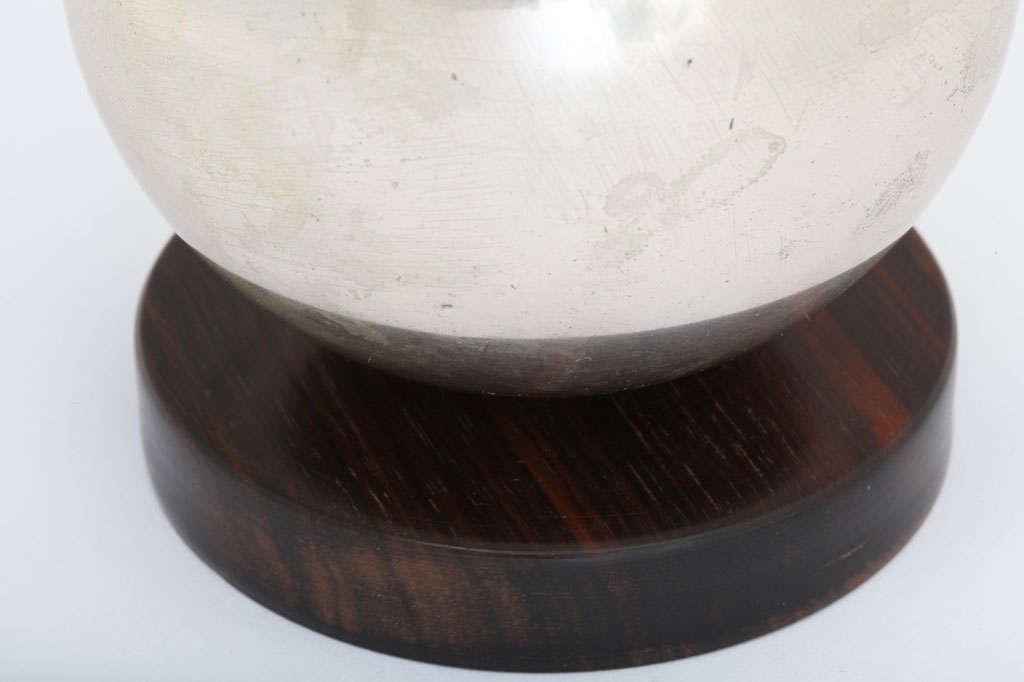 Maison Desny French Art Deco Nickel und Satiniertes Glas Weihrauch-Brenner 4
