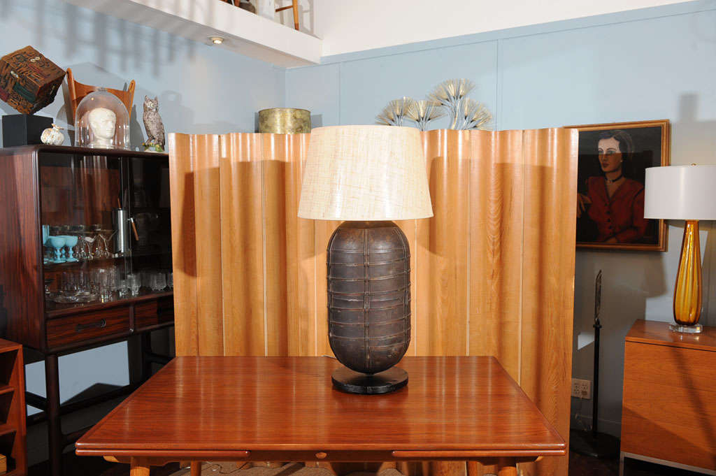 B 52 tank lamp at 1stdibs for Table 52 petroleum