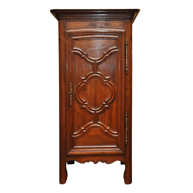french provincial bonnetiere armoire early 19th century at 1stdibs. Black Bedroom Furniture Sets. Home Design Ideas
