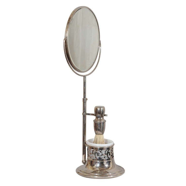 Victorian Shaving Mirror With Accessories At 1stdibs