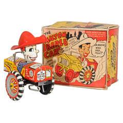 Louis Marx Milton Berle Tin Car, Mint in the Box