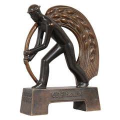 Machine Age WPA Style Period German Bronze