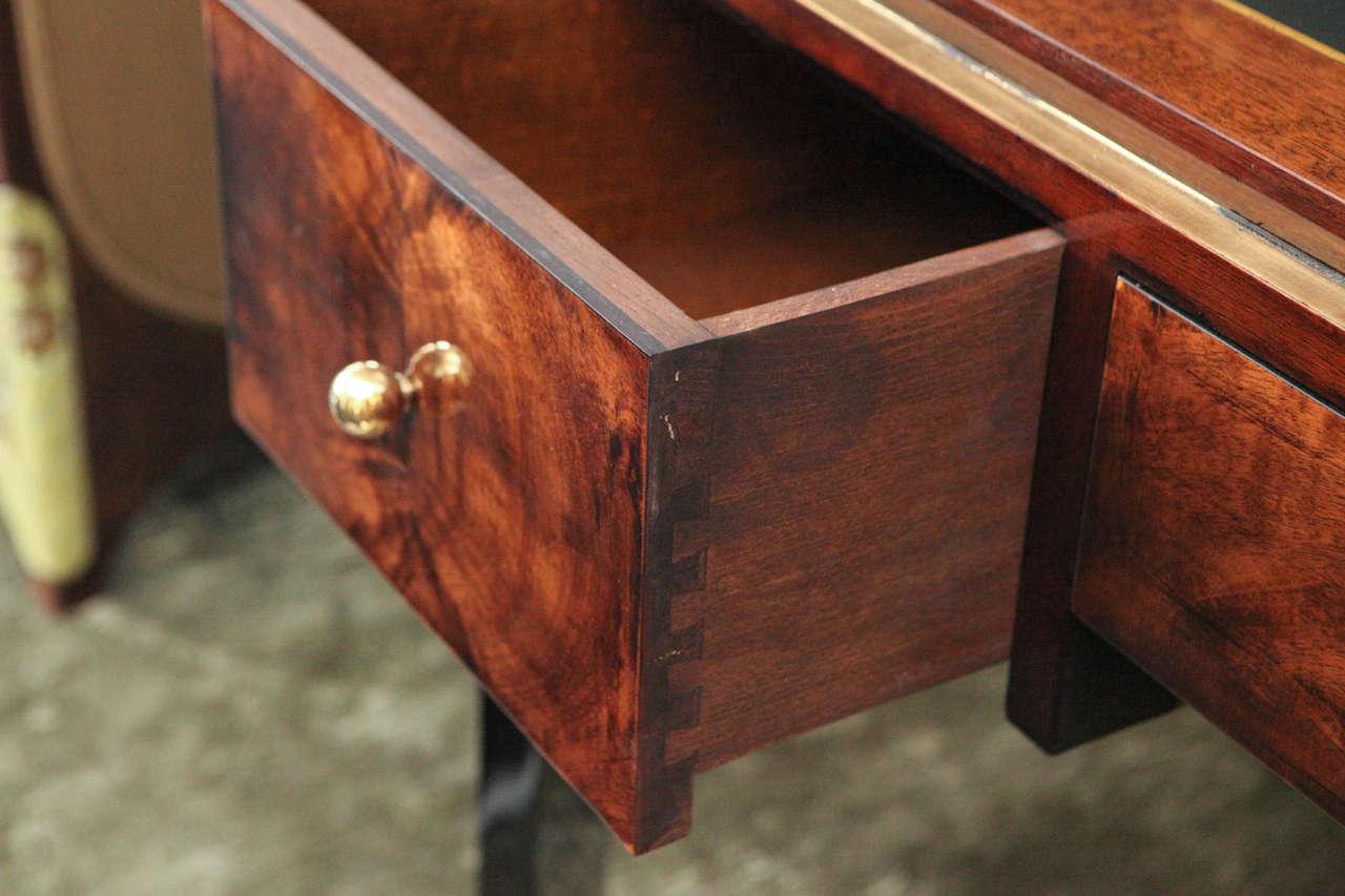 Octagonal Art Deco Desk in Walnut 6