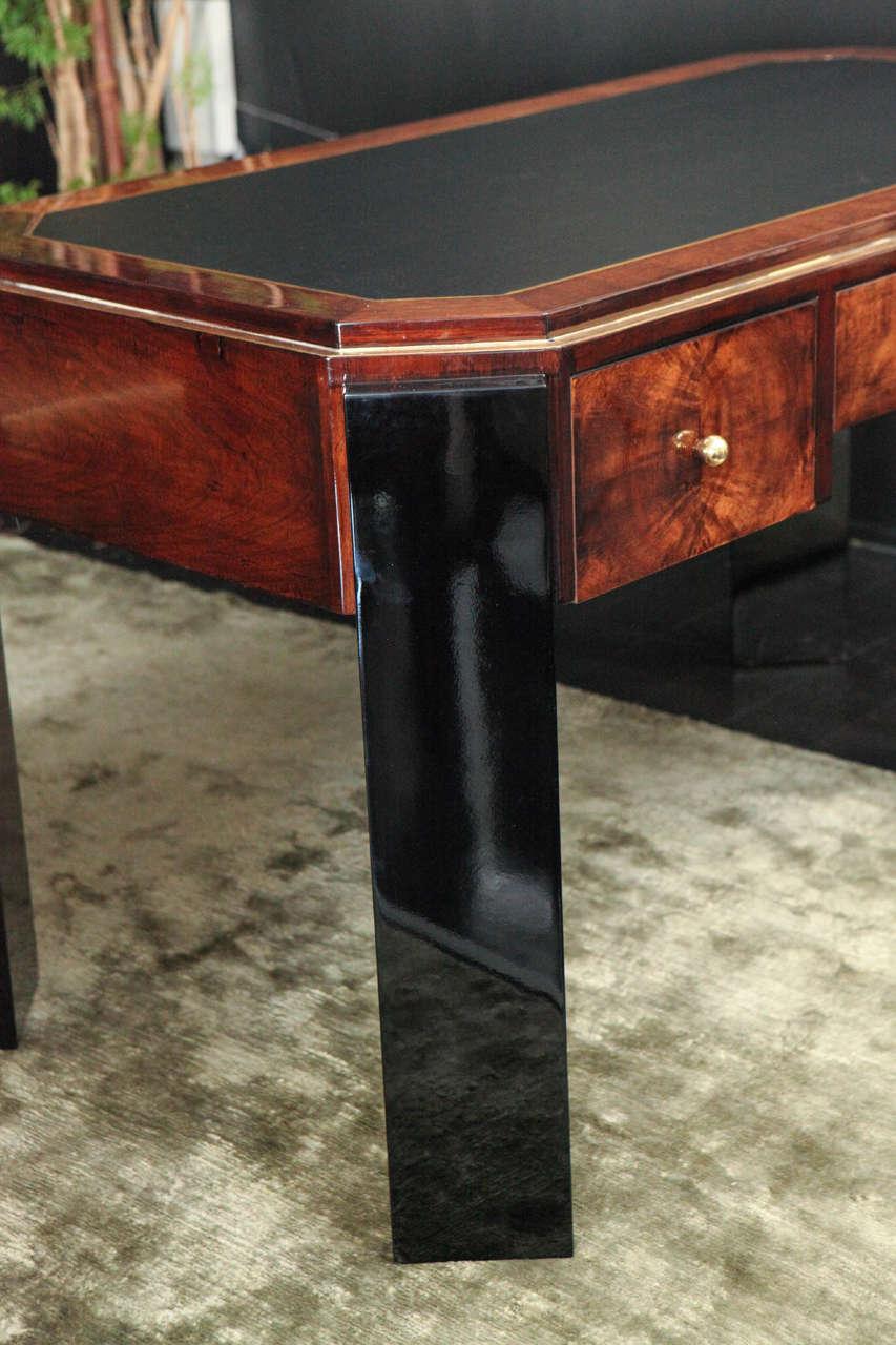 Octagonal Art Deco Desk in Walnut 7