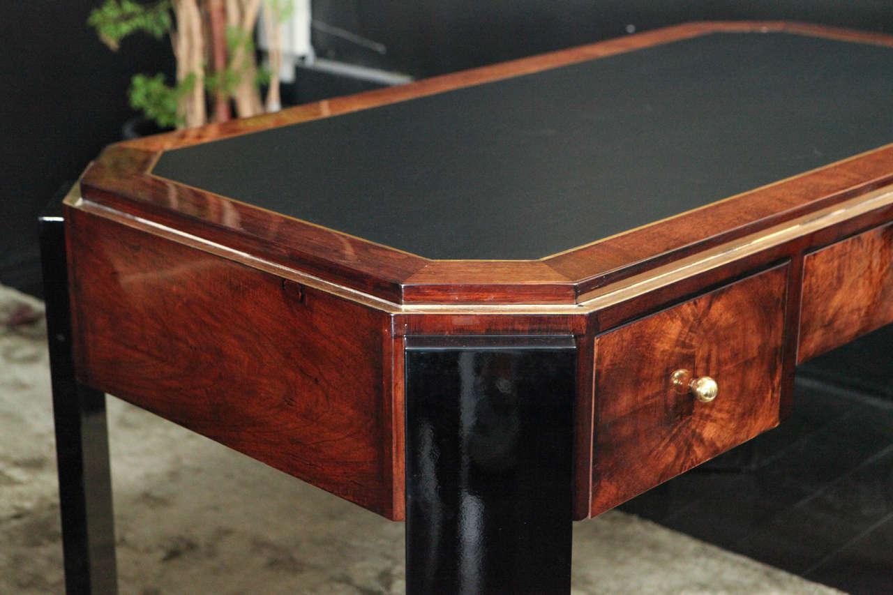 Octagonal Art Deco Desk in Walnut 8