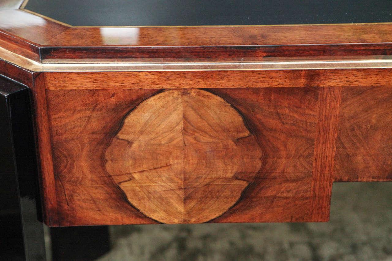 Octagonal Art Deco Desk in Walnut 9