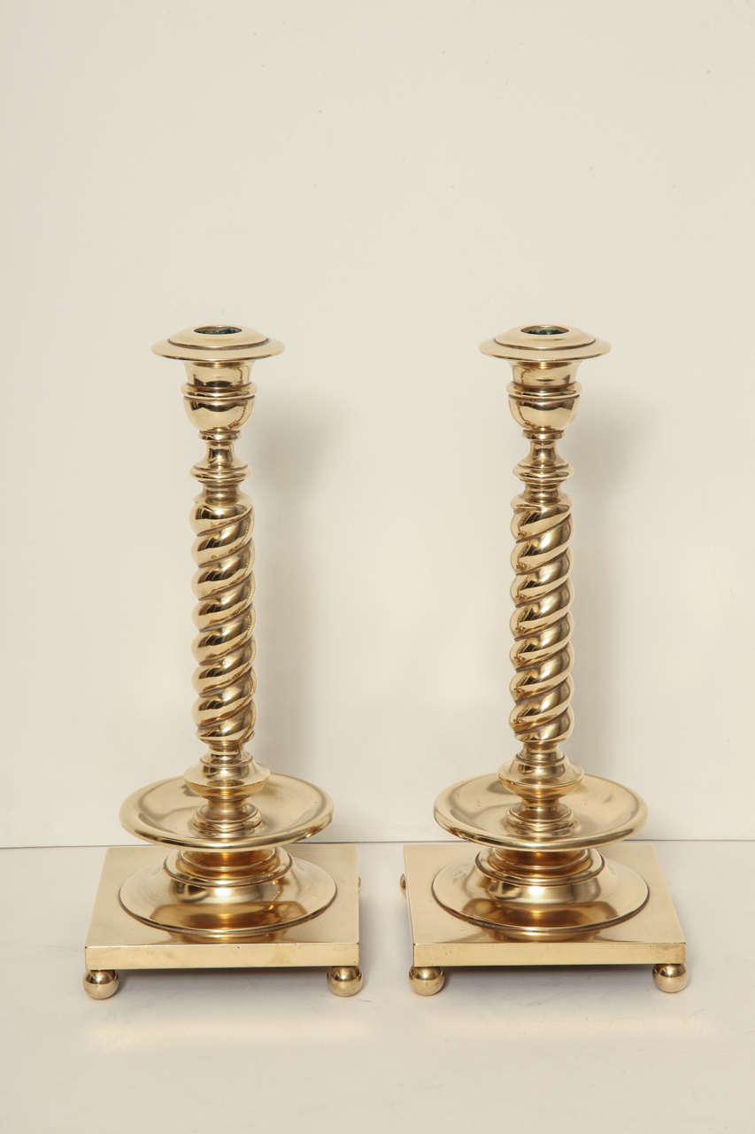 Bronze Spiral Column Candlesticks image 3