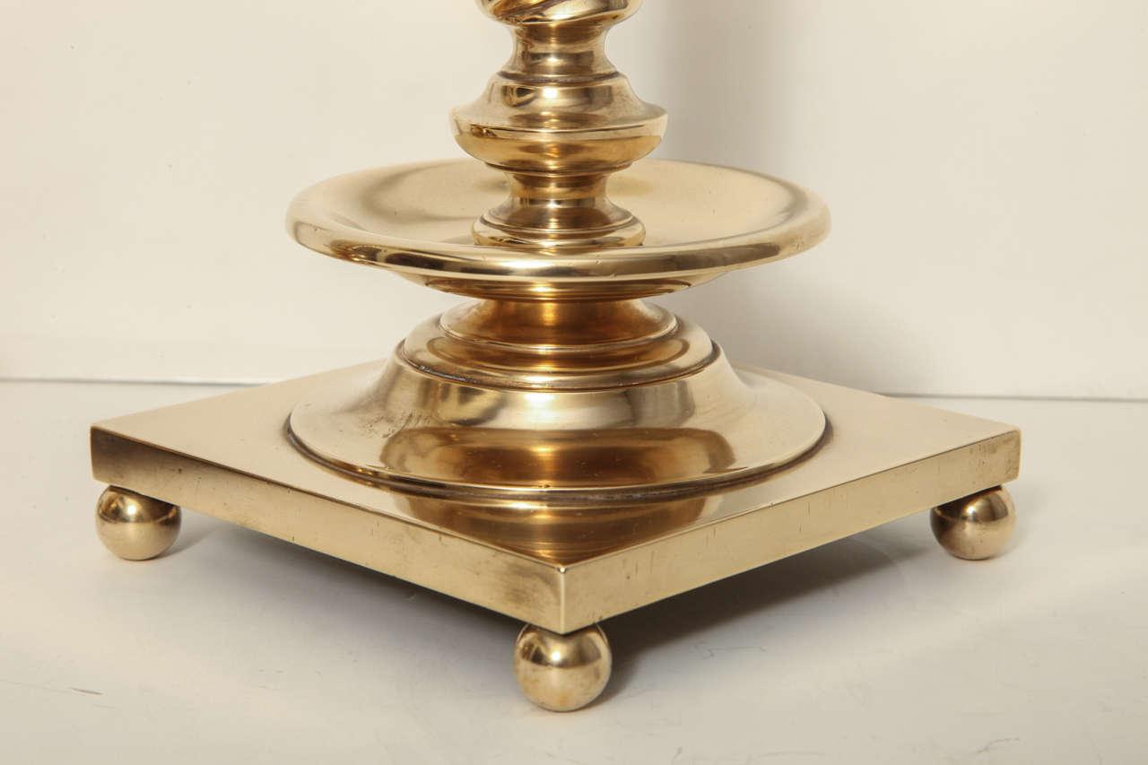 Bronze Spiral Column Candlesticks at 1stdibs