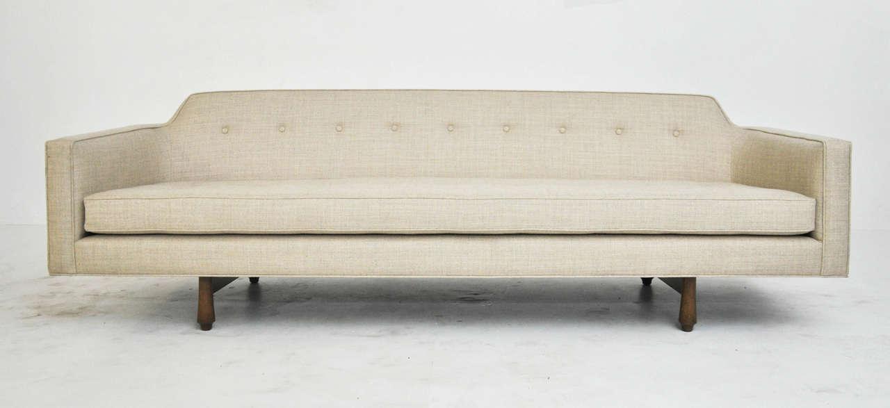 Mid Century Modern Dunbar Curved Back Sofa By Edward Wormley For Sale