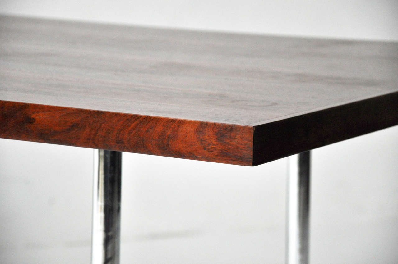 Rosewood Dining Table after Mies Van Der Rohe For Sale 1