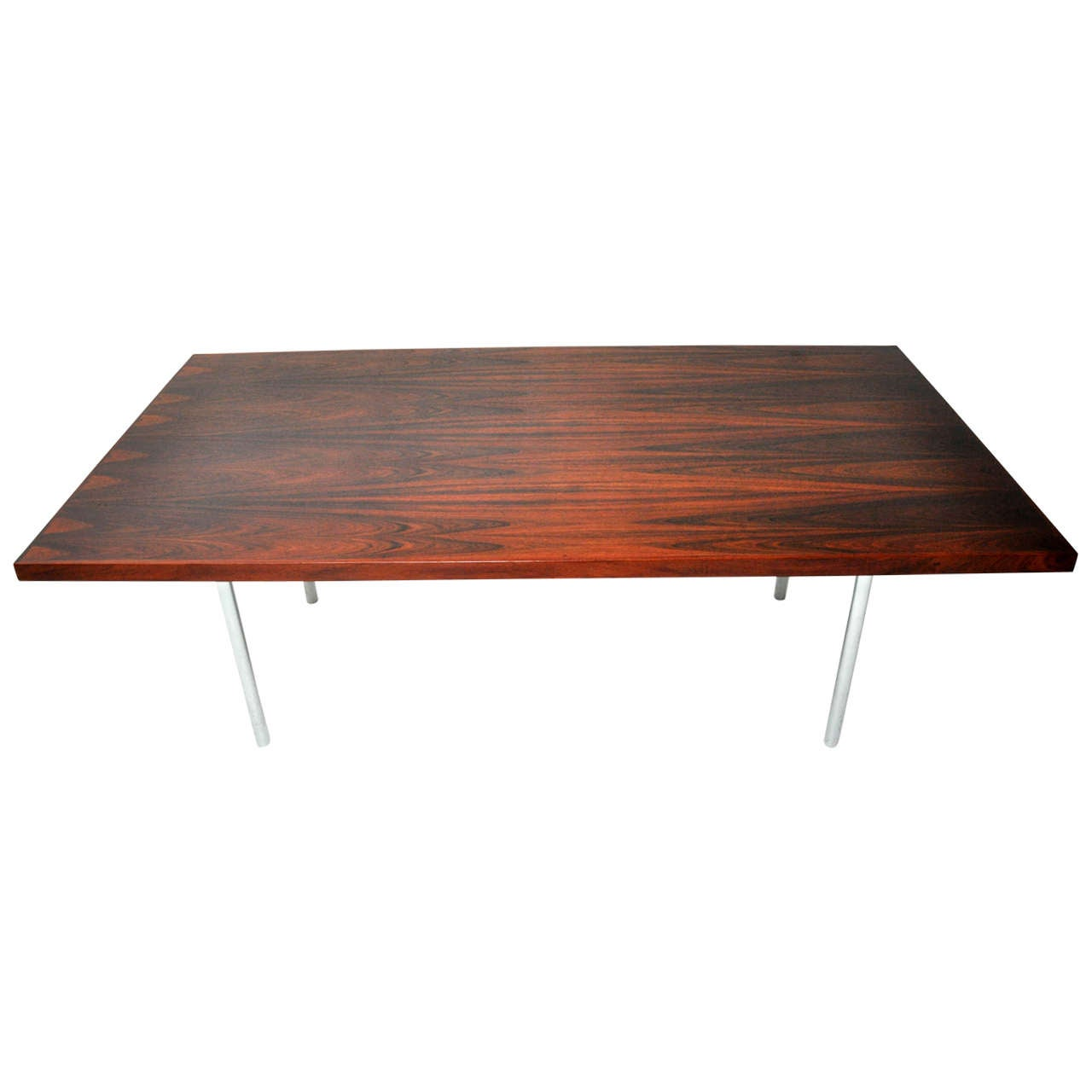 Rosewood Dining Table after Mies Van Der Rohe For Sale